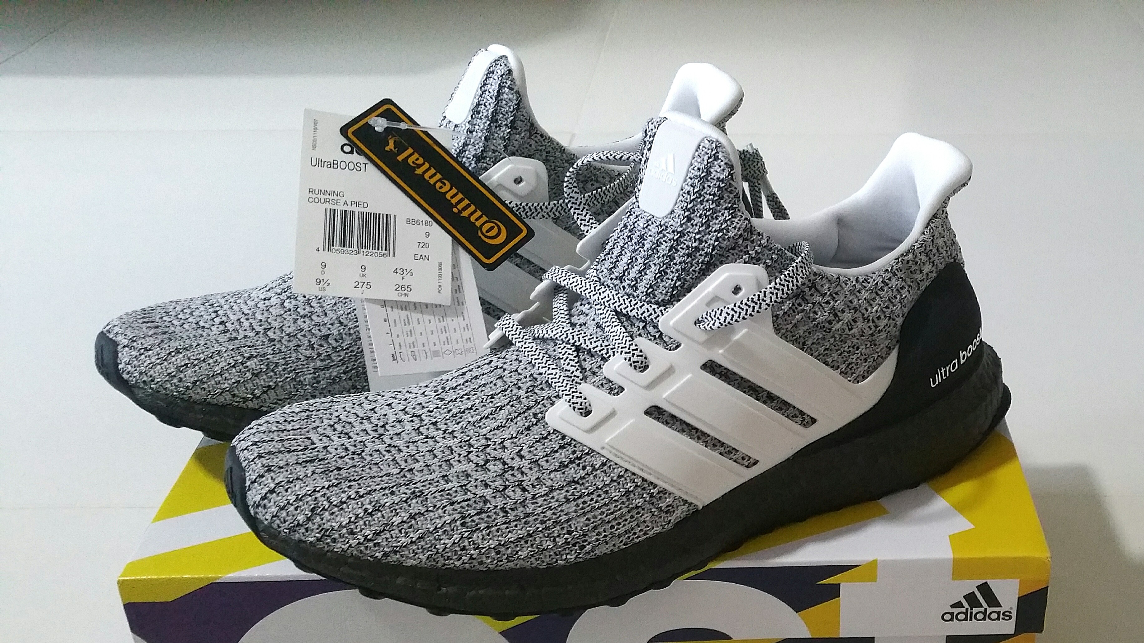 eaee6a446 Adidas Ultra Boost Ultraboost 4.0 Cookies Cream Oreo Black White ...