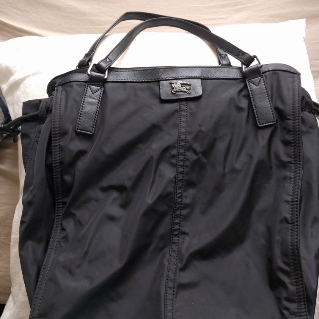 Authentic Burberry Nylon Tote - Black
