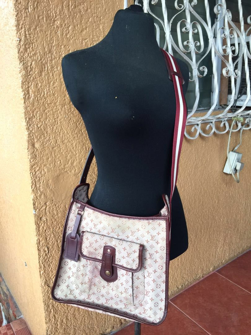 b7bf95b1 Authentic Louis Vuitton Mary Kate mini lin monogram red pink brown ...