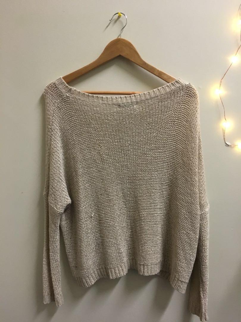 Beige slouch sweater