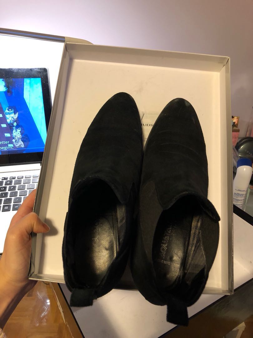 Black booties size 7 *price firm*