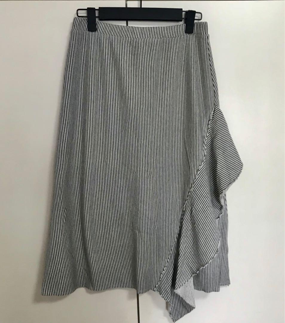 1fc5fa672d BNWT Zara Stripes Knitted Midi Skirt, Women's Fashion, Clothes ...