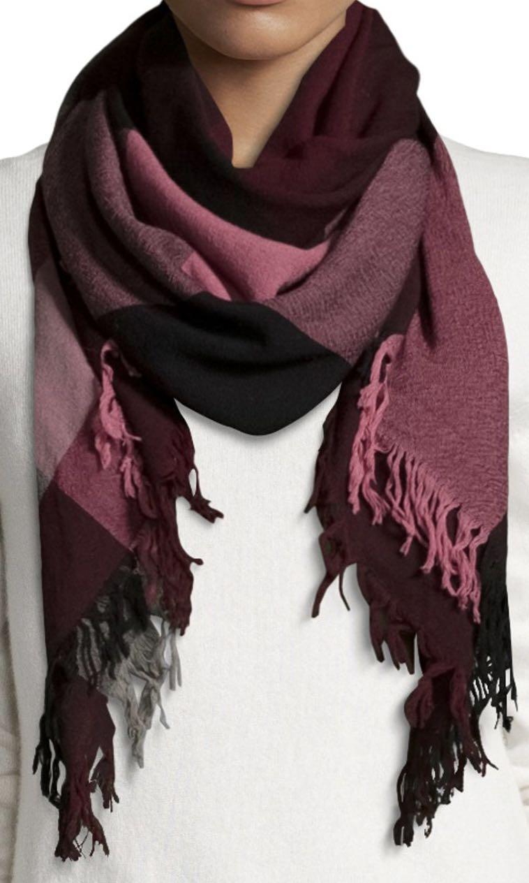 Burberry Check Square Extra Fine Merino Wool Scarf 4425a192e3