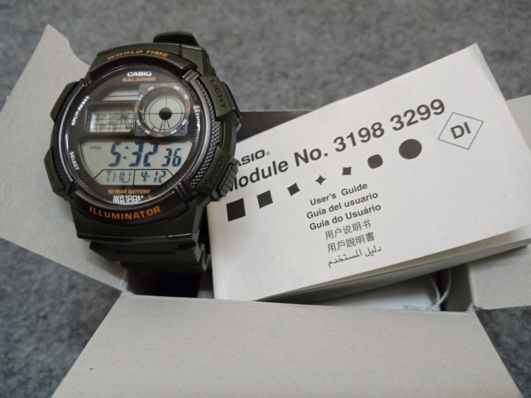 Casio Ae 1000w 3avdf Original Mens Fashion Watches On Carousell World Time 1000wd