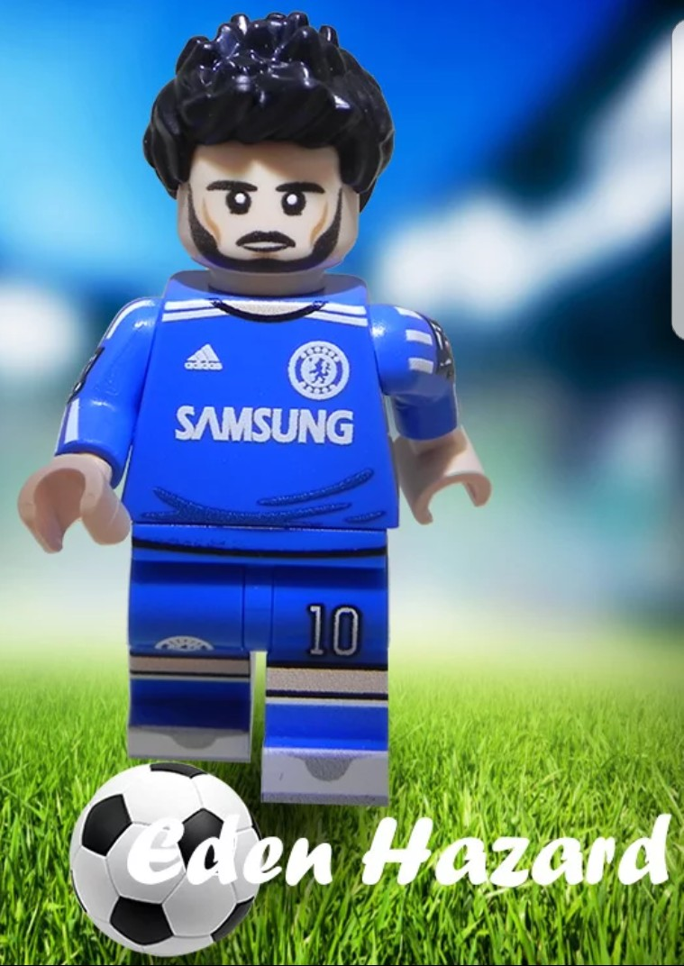 detailed look cc827 77762 Custom printed LEGO soccer minifig - Eden Hazard on Carousell