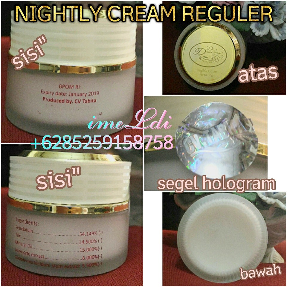 Desi Damayanti Skincare /tabita, Nightly Cream Reguler, krim malam, Health & Beauty on Carousell