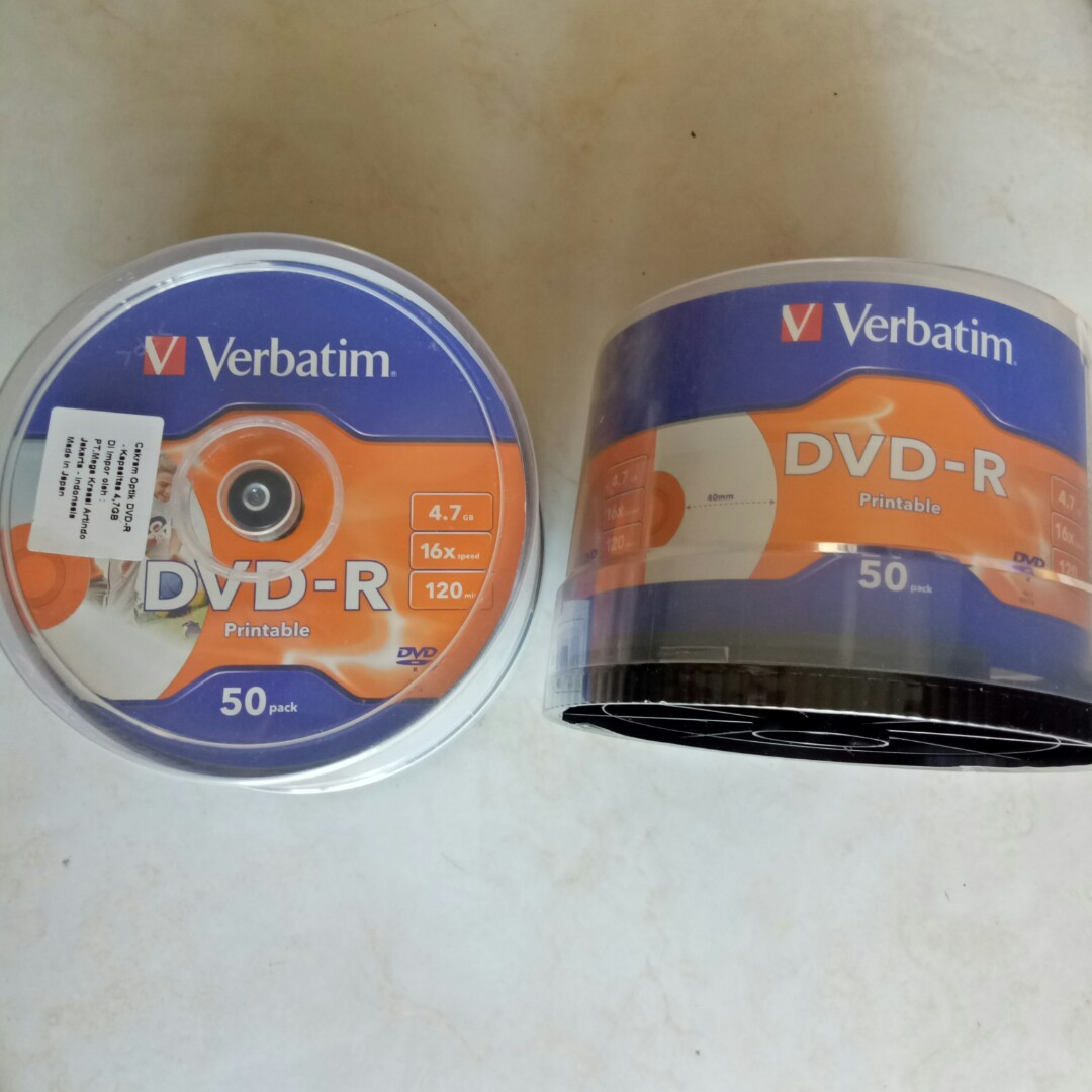 graphic about Printable Cds named DVD-R Verbatim 4.7 Printable