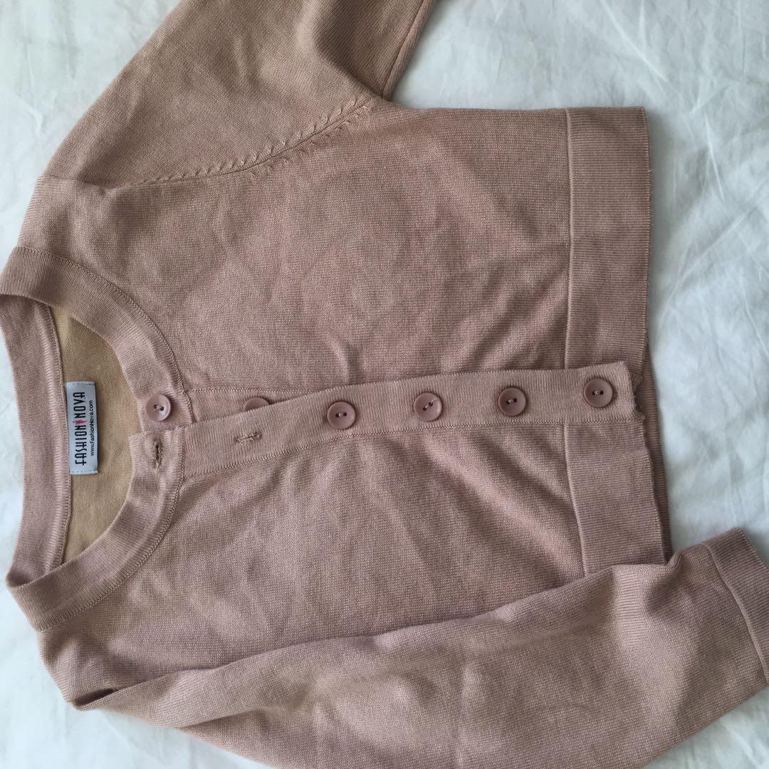 Fashionnova crop button up sweater