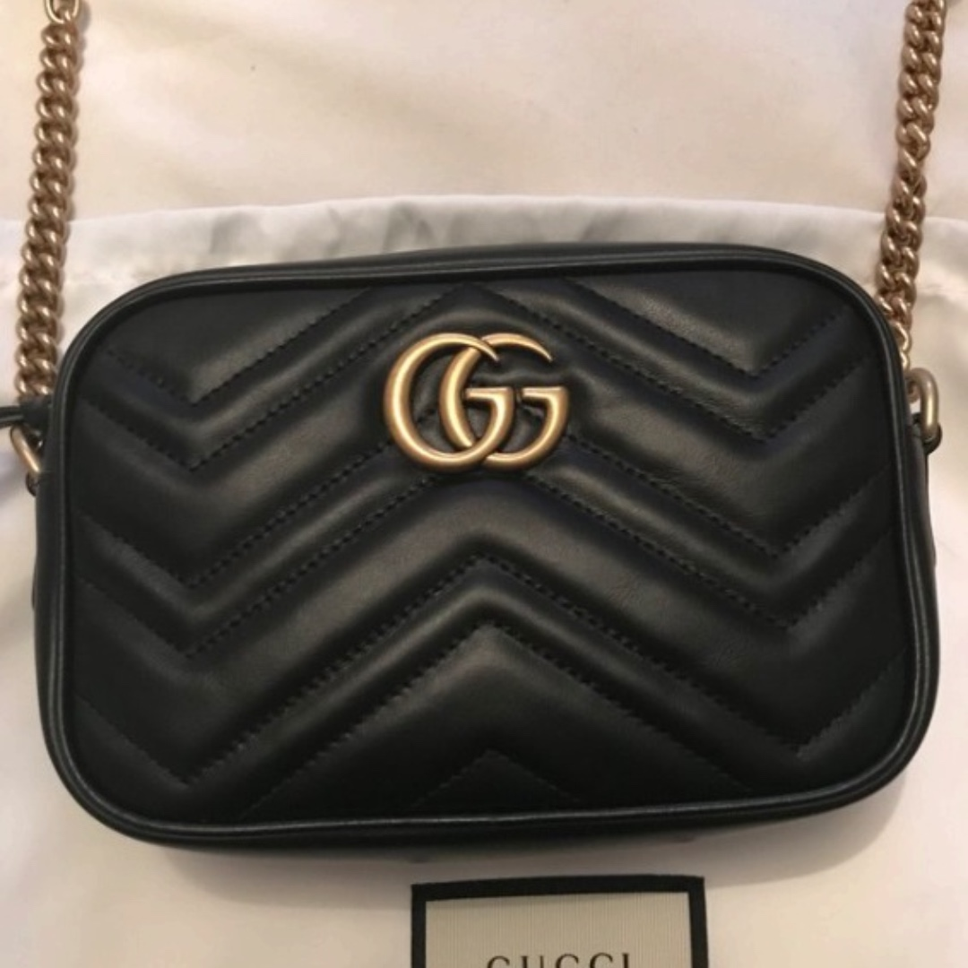 Gucci GG Mini Marmont Black Bag
