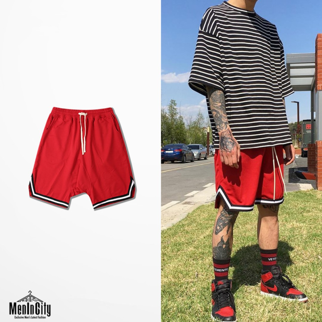 ca3e2372 Hip Hop Drop Crotch Basketball Shorts Street Style (NF-150), Men's Fashion,  Clothes, Bottoms on Carousell