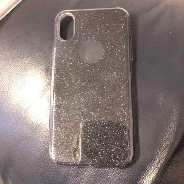 iPhone X Glitter Case Black