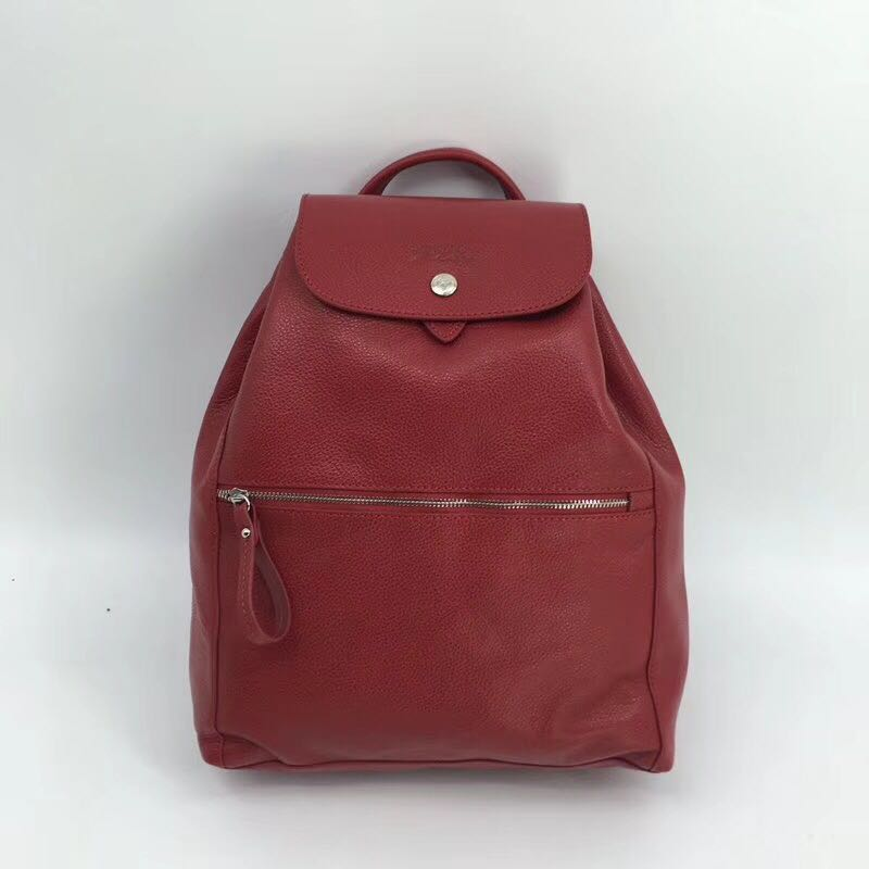 long champ pliage backpack maroon authentic with paper bag reputable ... e53bc1b9bf67c