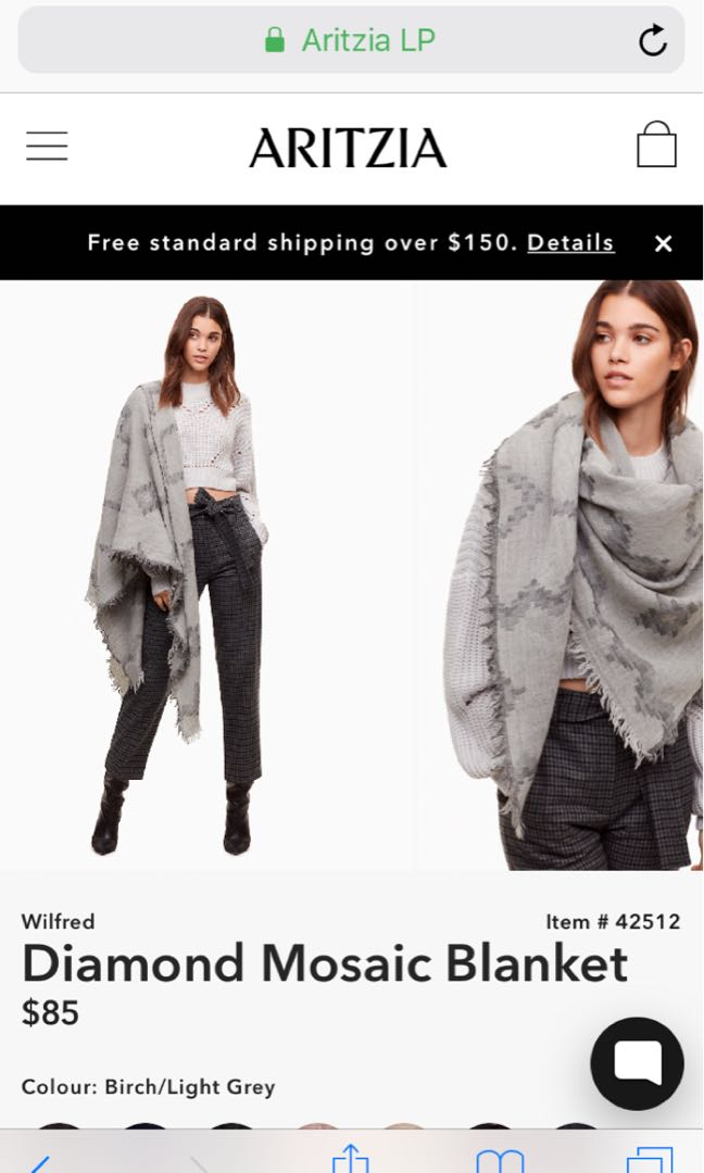 Looking for Aritzia Grey Scarf