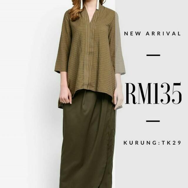 Looking For Lubna Flared Kebaya Army Green Women S Fashion Muslim