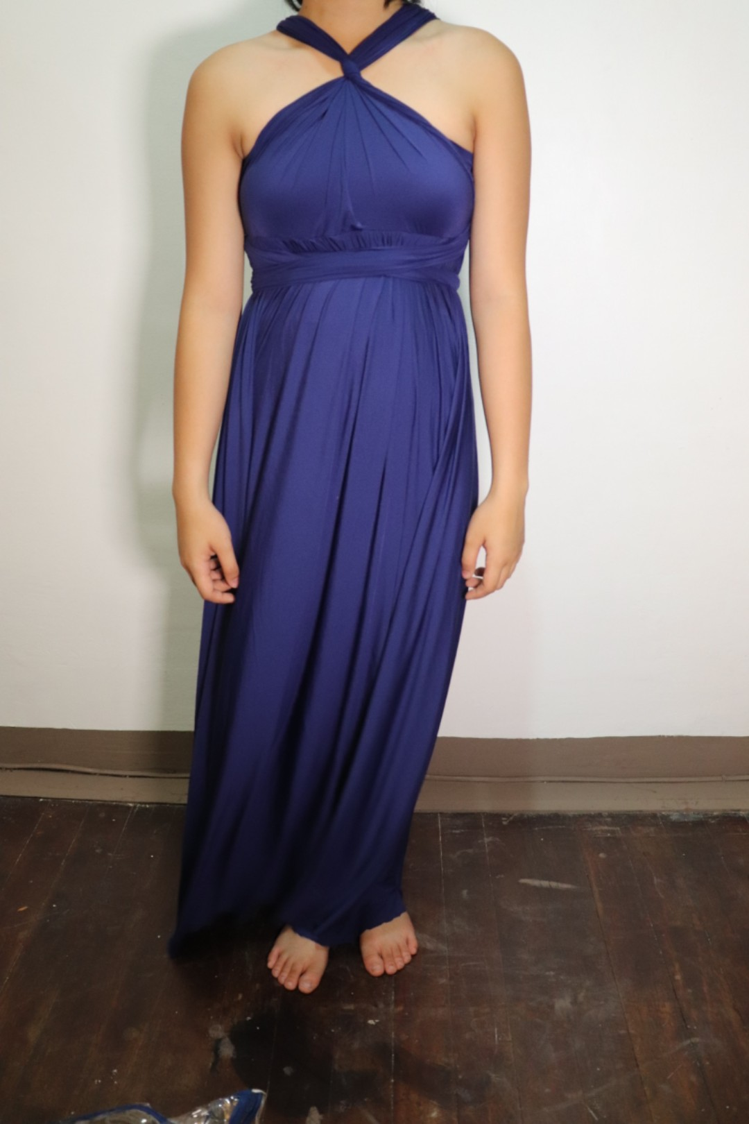 Navy Blue Infinity Dress with Tube (lightweight), Preloved Women\'s ...