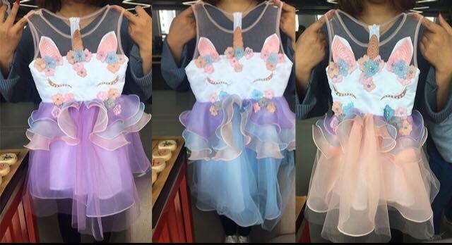 New unicorn dresses 12m to 8T