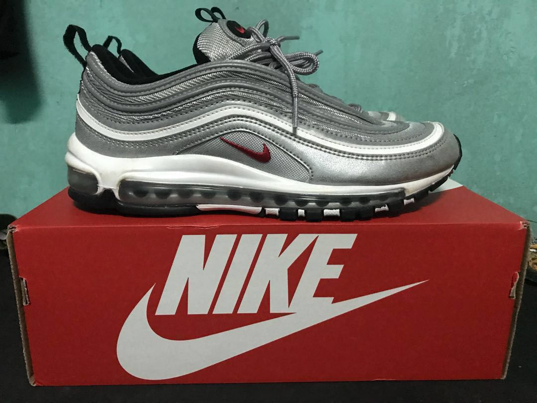 59607c2e3a Nike Airmax 97 OG Silver bullet, Men's Fashion, Footwear on Carousell