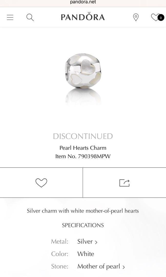 Pandora bracelet & discontinued charms