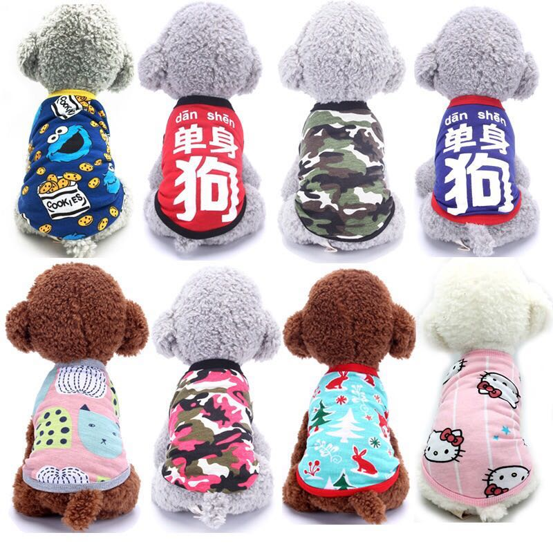 (PO) Pets Dogs Fashion Clothing Casual Singlet Top