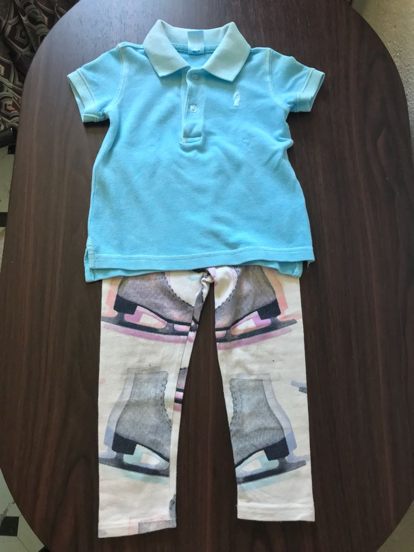 Polo shirt and legging set