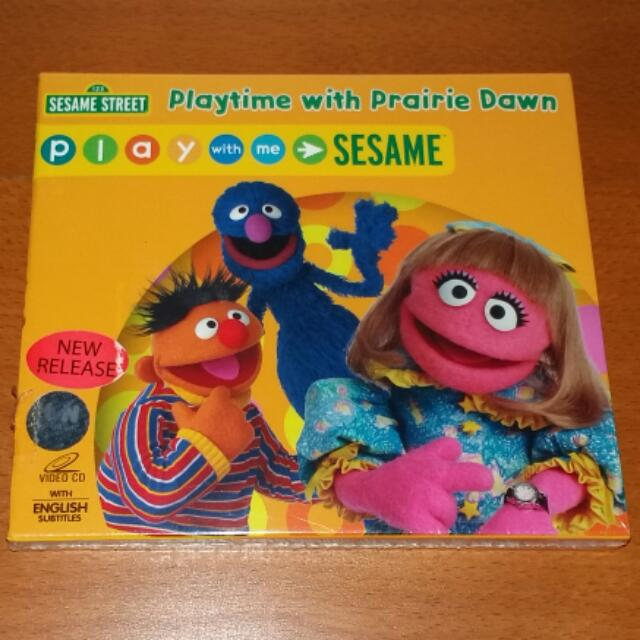 Sesame Street Playtime With Prairie Dawn Original Vcd On