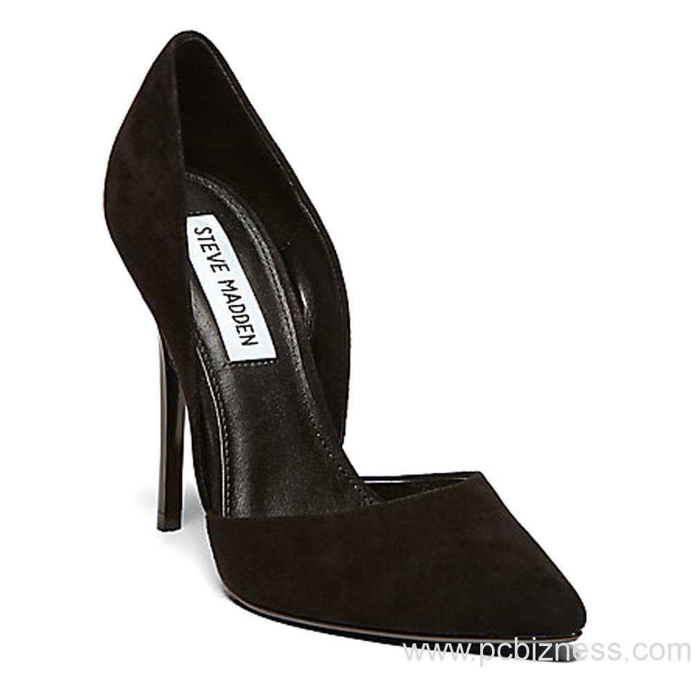 fd0e07be1de Steve Madden Varcityy Heels for Women – Black Suede