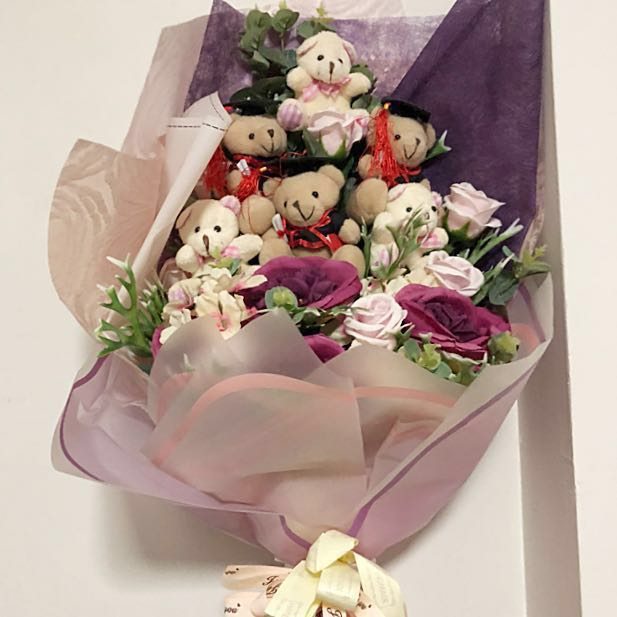 Teddy Bear Flower Bouquet (Graduation), Gardening on Carousell