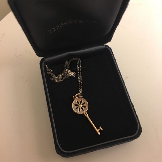 Tiffany daisy necklace in rosegold