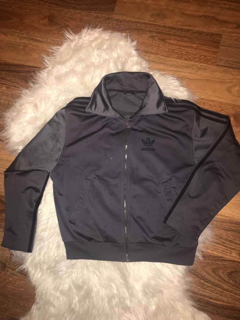 Vintage dark grey adidas jacket