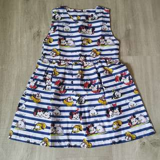 Brand New Handmade Premium Backless Heart Dress – Tsum Tsum Print