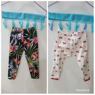 7 leggings or pants for $6 for toddler girl