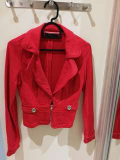 Bright Pink Cropped Jacket