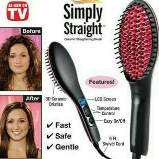Hair Brush Straightening