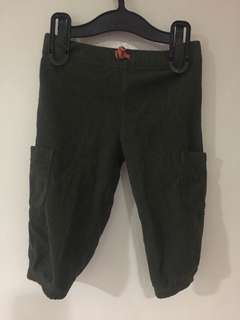 Carter's Moss Green Pants with Size Pockets