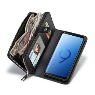 分折式 銀包 電話套Wallet with Detachable Phone Case for Samsung Galaxy S9 Plus S8 Note 8