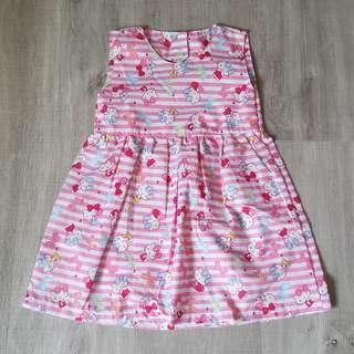 Brand New Handmade Premium Backless Heart Dress – Hello Kitty Print
