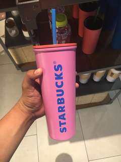 Starbucks Pink Venti Faces Stainless Steel Cold Cup