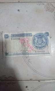 新加坡舊紙幣