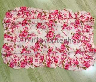 Vintage 70s Pink Flowers Bed Linen Set