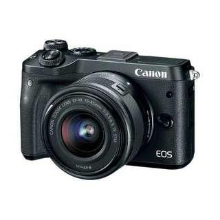 Kredit Kamera Canon EOS M6 Kit 15-45mm proses cuma 3menit