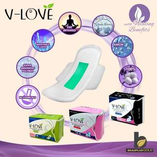 V Love Negative Ion Day Pads