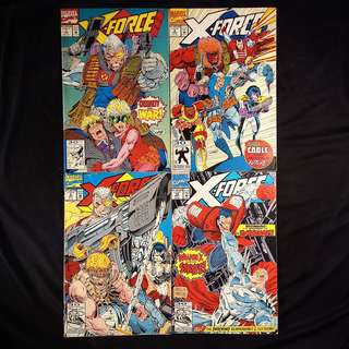 X-FORCE #7, 8, 9, 10 (1992 Marvel) [Lot of 4]
