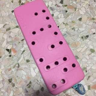 Invincible crocs pencil case pink