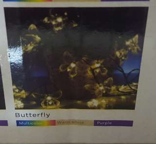 Satu Brown Solar 30 LED warm white Butterfly Design