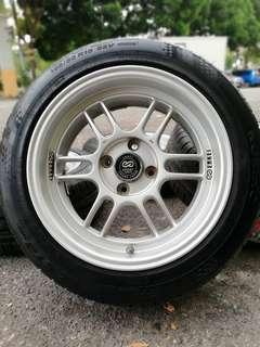 Enkei rpf1 15 inch sports rim axia tyre baru. Skiruuuupapappp!!