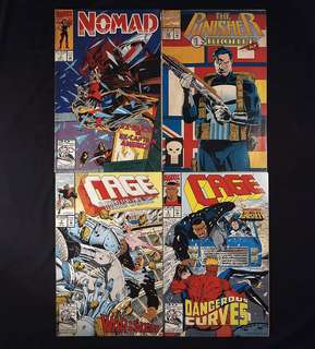 Nomad #3 + Punisher #64 + Cage #2, 3 (1992 Marvel) [Lot of 4]