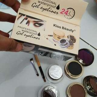 Gel eyeliner & eyebrow 2 in 1 waterproof