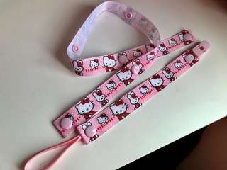 Handmade Hello Kitty Pacifier Chain + Toys holder