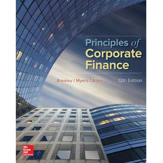 Principles of Corporate Finance 12th Twelfth Edition by Richard A. Brealey, Stewart C. Myers, Franklin Allen - McGraw-Hill Education