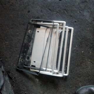 Frame plate toyota